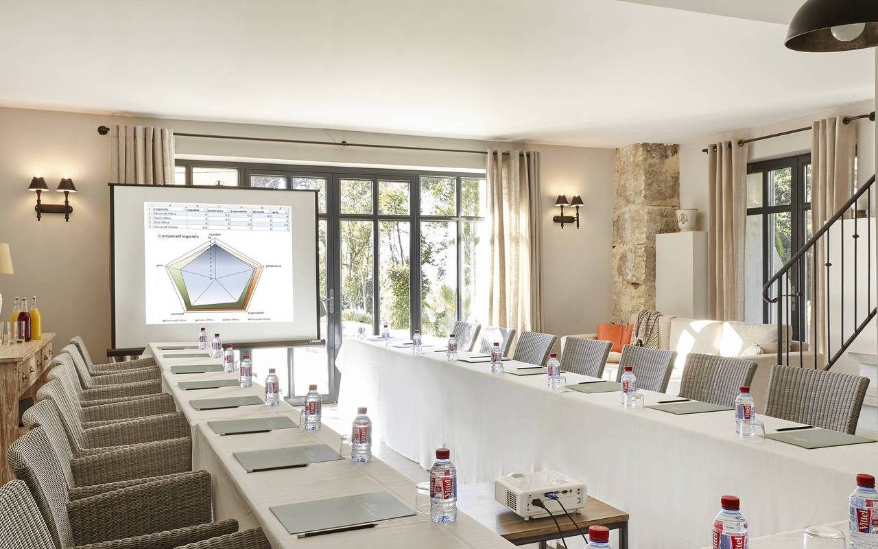meeting room, herault house rental, les carrasses
