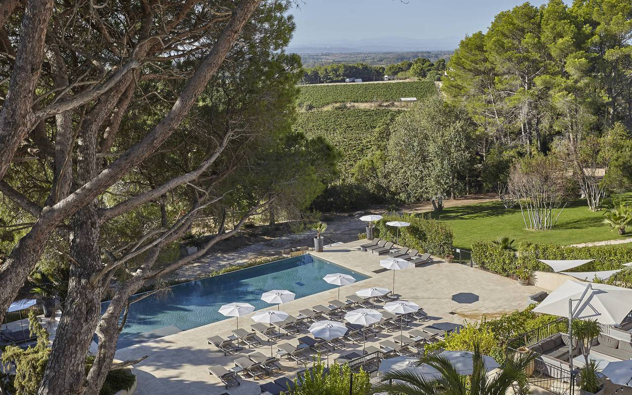 large swimming pool, herault house rental, les carrasses