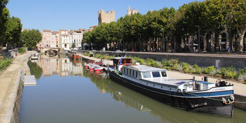 View of Narbonne, close to our hotel spa near Pézenas, Château St pierre de Serjac.