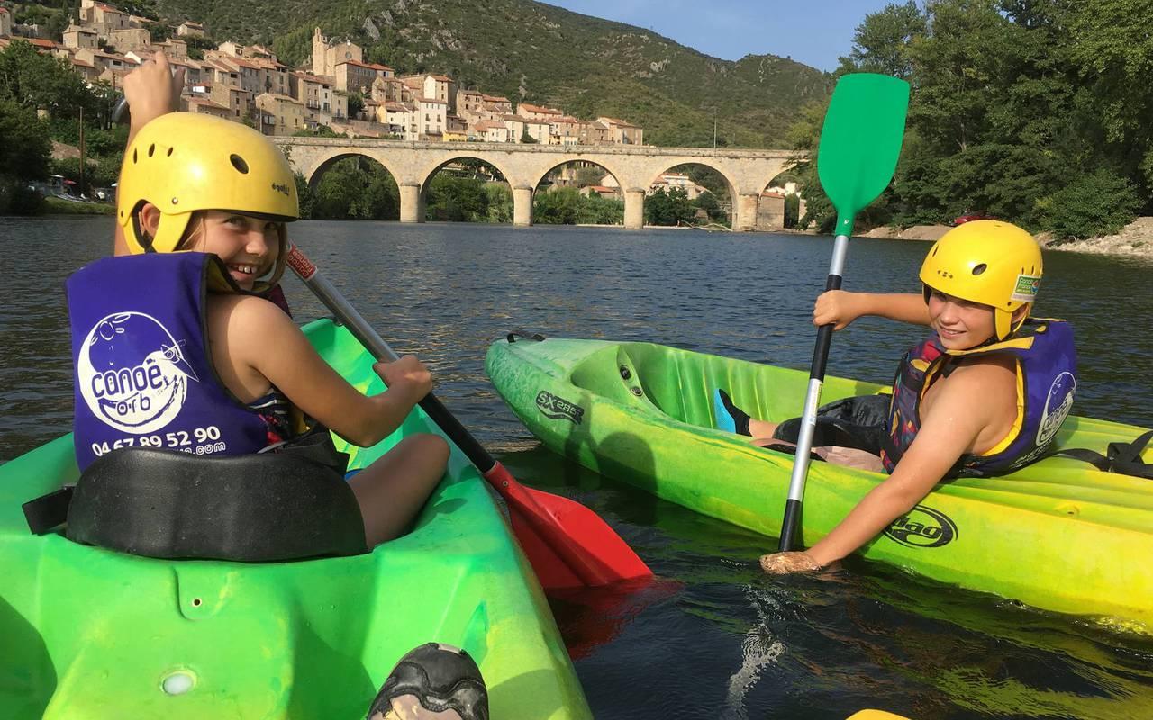 Canoe roquebrun, activity at les carrasses castle, unusual Languedoc night
