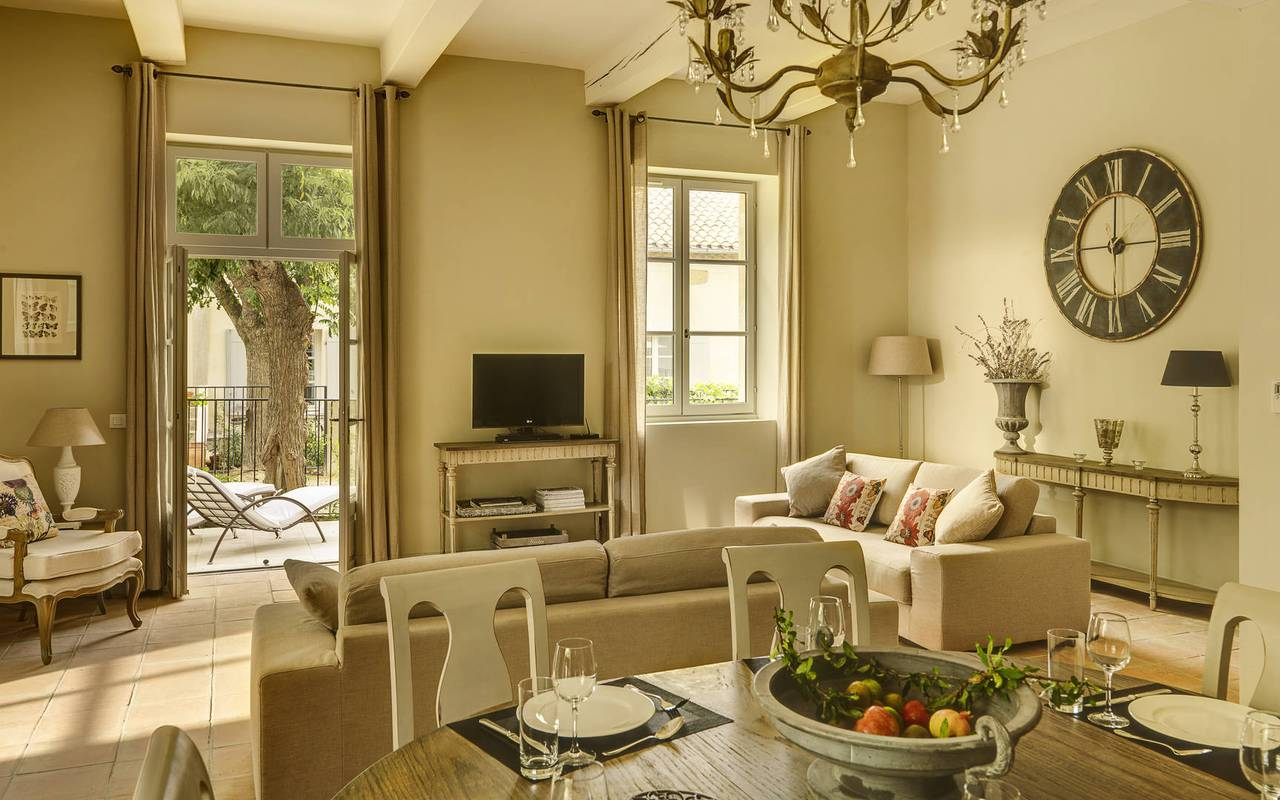large bright living room, carrasses vacation rental languedoc roussillon